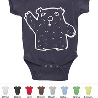 Wombat Onesuit Baby Bodysuit American Apparel Infant Baby Rib Short Sleeve Onesuit baby clothing wombat printed baby bodysuits