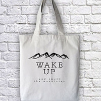 Wake Up and Smell the Mountains Tote Bag