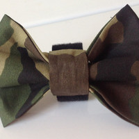 Camouflage Collar Bow Tie for Dogs or Cats