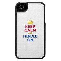 KEEP CALM and HURDLE ON iPhone 4 Cover from Zazzle.com