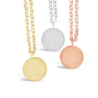 Minimalist Round Plate Necklace