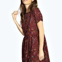 Louise Woodland Floral Smock Dress