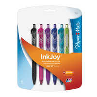 Paper Mate InkJoy 300 RT Retractable Medium Point Advanced Ink Pens, 6 Colored Ink Pens