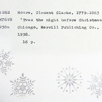 Twas the Night Before Christmas, library inspired Christmas card, holiday cards for readers, literary holiday cards, secular holiday card