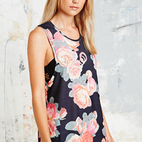 Insight Tank Dress in Rose Print - Urban Outfitters