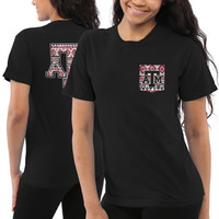 Texas A&M Aggies Women's Coastal Aztec T-Shirt – Black