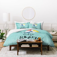 Nick Nelson Lifes A Beach Duvet Cover