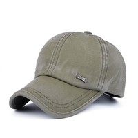 Men Washed Cotton Baseball Caps for Male Adjustable Sun Protection Dad Hats Snapback