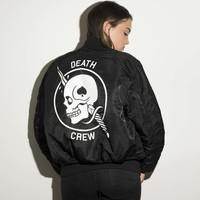 GIRLS DEATHCREW BOMBER JACKET