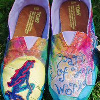 Custom Hand-Painted Movie-Themed Toms (Shoes and Art)