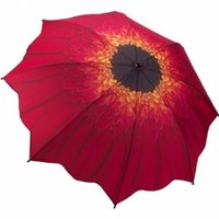 Galleria Enterprises Red Daisy Folding Miniature Umbrella