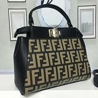 FENDI Women Fashion Leather Handbag Crossbody Shoulder Bag Satchel