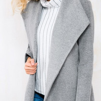 Winter Gray Long Jacket