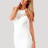 Hot Sale Sexy Hollow Out Backless Spaghetti Strap One Piece Dress [6048380033]