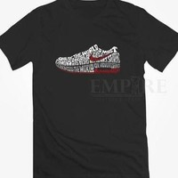 Tagre™ NIKE SHOES TEXT Unisex/Men Tshirt All Size