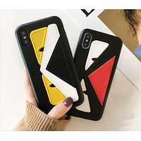 Fendi : print phone shell phone case for Iphone 6/6S/6P/6SP/7P/7/8/8P/X-1