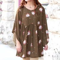 Fall Love Story Floral Dress {Olive Mix}