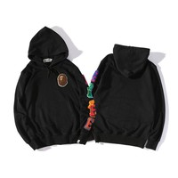 BAPE Tide brand ape wallabies pocket simple hooded sweater S --2XL