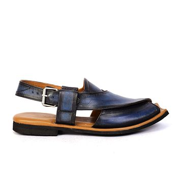 Maestro Stealth Mens Cowhide Streaky Leather Sandals Peshawari Chappal