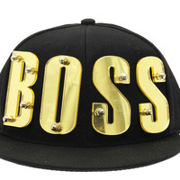 Boss Mirror Letters Snapback Gold