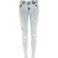 River Island Womens Acid wash ripped Amelie superskinny jeans