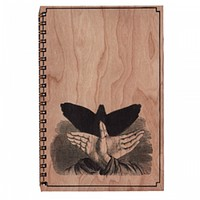 Wood Notebook Shadow Bird Large