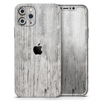 Rough White Wood - Skin-Kit compatible with the Apple iPhone 12, 12 Pro Max, 12 Mini, 11 Pro or 11 Pro Max (All iPhones Available)