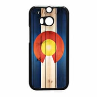 Colorado State Flag Wood Design HTC One M8 Case