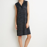 Marled Knit Hooded Dress