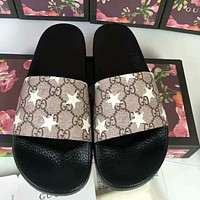 GUCCI New Fashion Printed Letter Couple Slippers