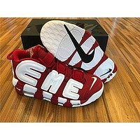 Nike Air more uptempo red white Basketball Shoes 36-47