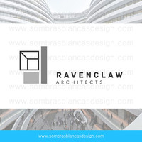 OOAK Premade Logo Design - Geometric Building - Perfect for an architecture studio or a moder interior design firm