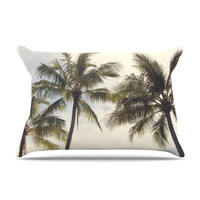 "Catherine McDonald ""Boho Palms"" Coastal Trees Pillow Case"