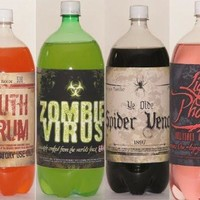 Halloween Slap-sticker Soda Bottle Decoration