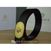 Versace Woman Buckle Belt Leather Belt, Fashion Smooth