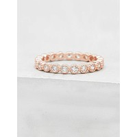 Bezel Eternity Band - Rose Gold
