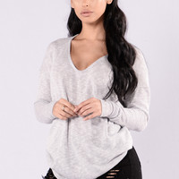 Change of Speed Sweater - Silver