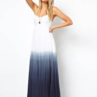 ASOS PETITE EXCLUSIVE Halter Maxi Dress With Dip Dye