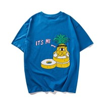 Round-neck Summer Vintage Strong Character Print Couple Short Sleeve T-shirts [10390932039]