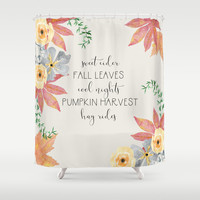 Fall Shower Curtain by sylviacookphotography