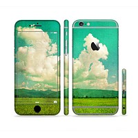 The Green Vintage Field Scene Sectioned Skin Series for the Apple iPhone 6 Plus
