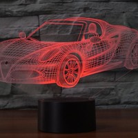 ALFA-ROMEO 4C SPIDER 3D  Lamp 8 Changeable Color [FREE SHIPPING]