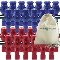 26 Red and Blue Foosball Men with Free Screws and Nuts