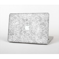 The White Textured Lace Skin Set for the Apple MacBook Air 13""