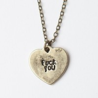 F* YOU HEART GOLD NECKLACE
