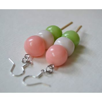 Japanese Three Color Dango Earrings