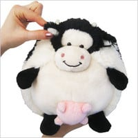 Mini Squishable Cow: An Adorable Fuzzy Plush to Snurfle and Squeeze!