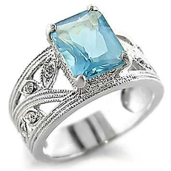 Sterling Silver Cubic Zirconia Ring 32835 - 925 Sterling Silver Ring