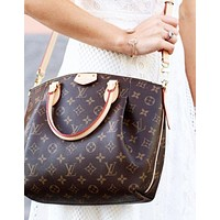 LV High Quality Classic Popular Women Shopping Bag Leather Handbag Shoulder Bag Satchel