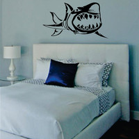 Shark Design Animal Decal Sticker Wall Vinyl Decor Art